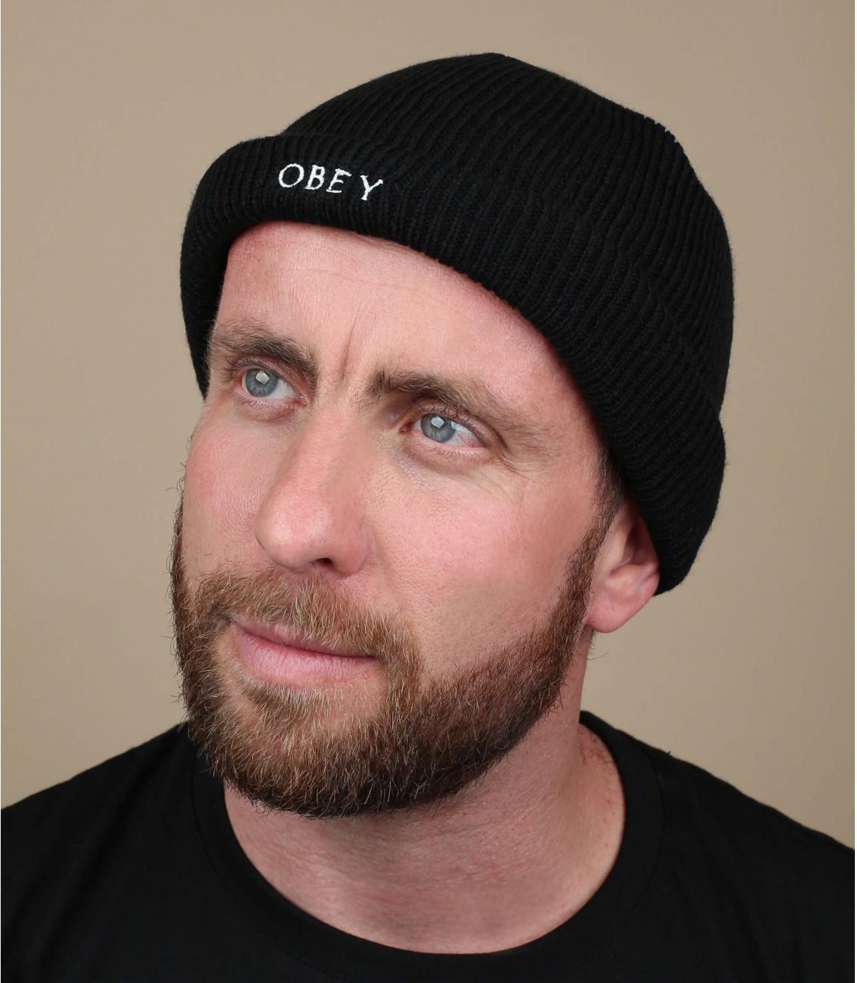 Docker Mütze schwarz noir Obey