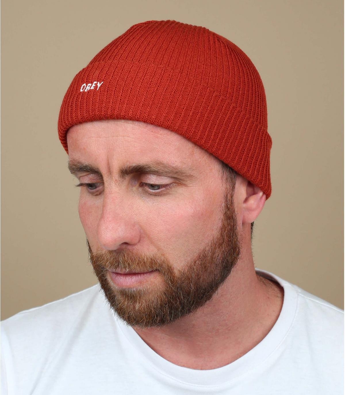 Mütze Rand rot Obey