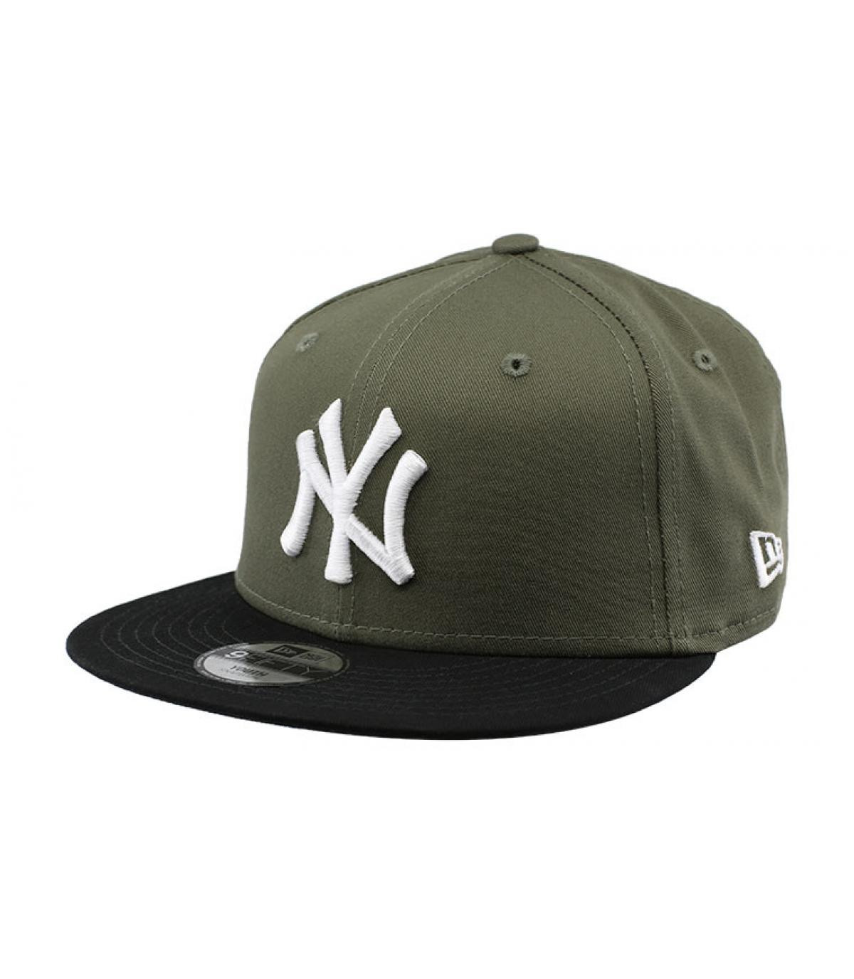 Kinder Cap NY grün schwarz