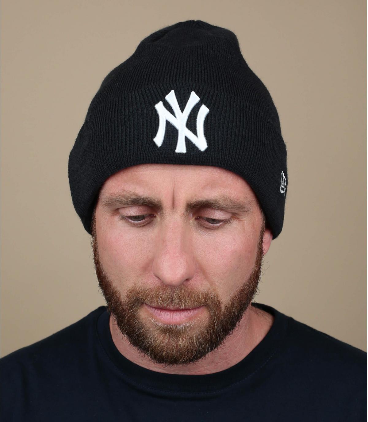 Mütze Rand NY blau