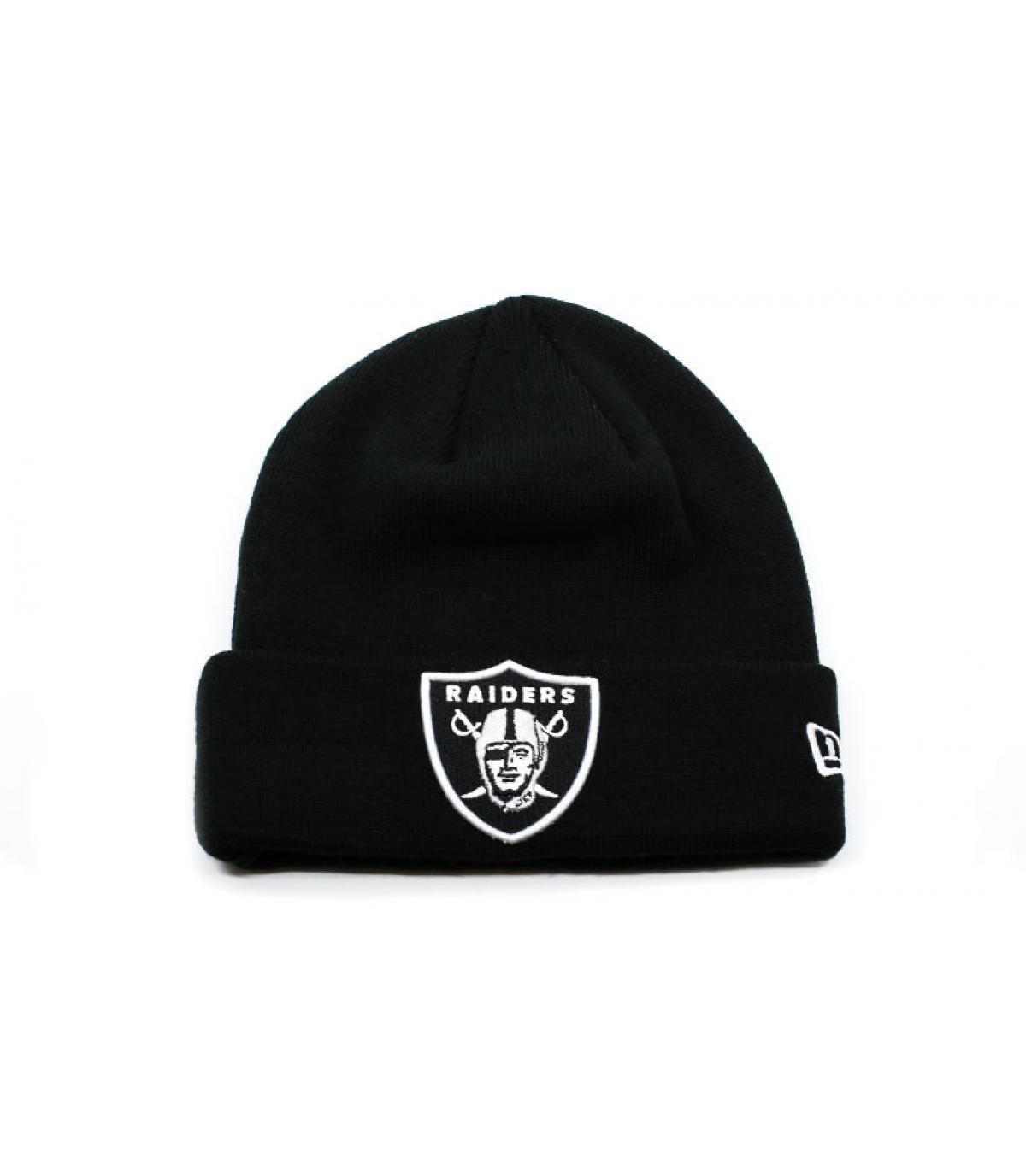 Mütze Rand schwarz Raiders