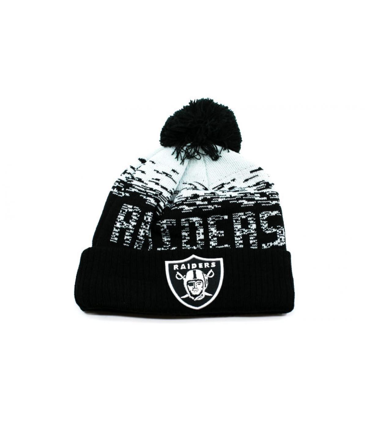 Bommel Mütze Raiders schwarz