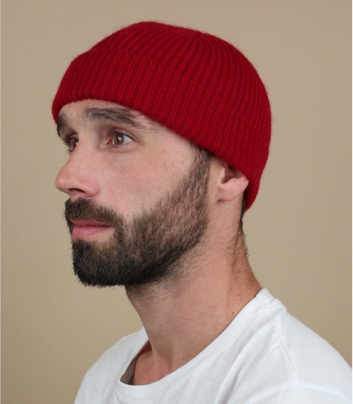 Mütze rot Revers