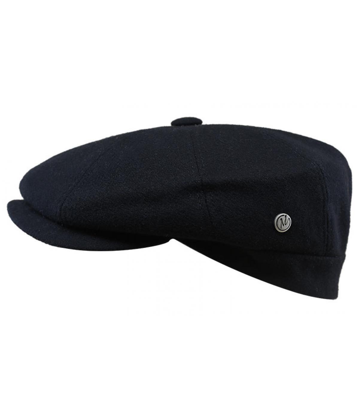 Zeitungsjungen Cap schwarz Wolle