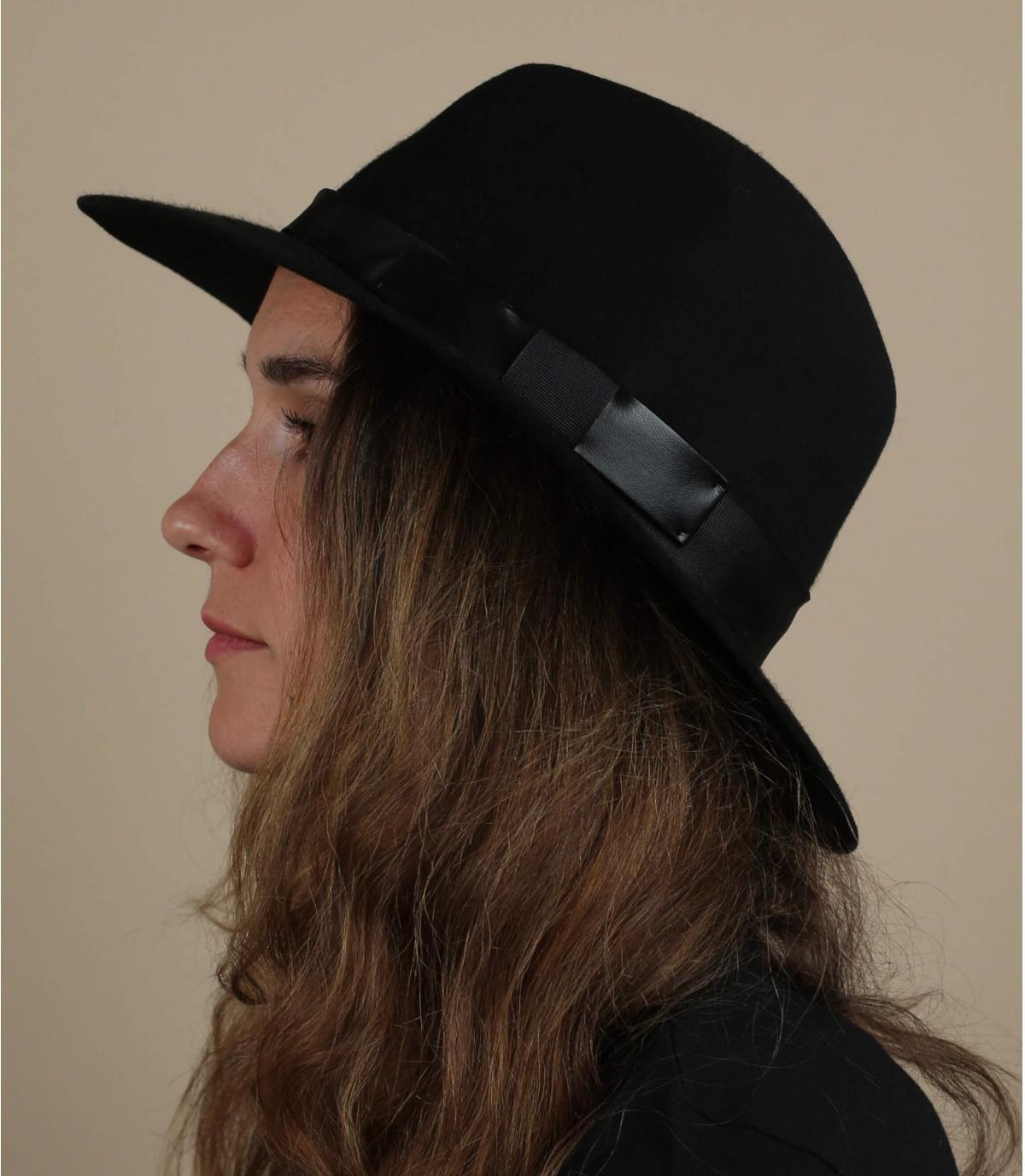 Fedora Hut schwarz Filz