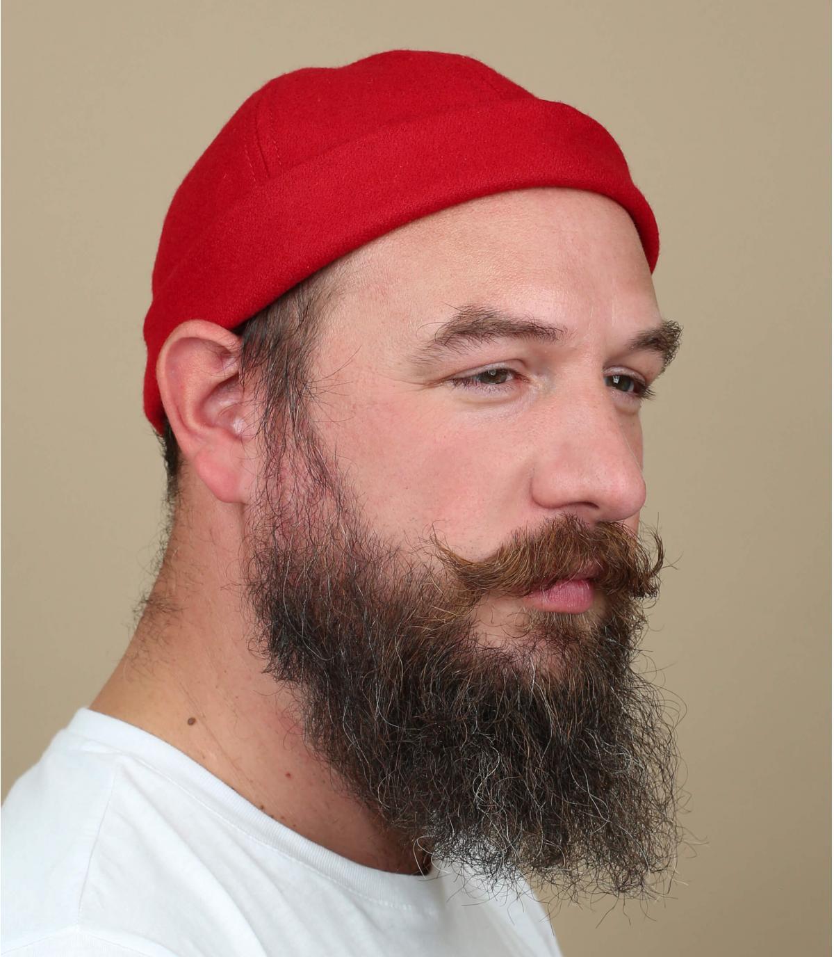 Docker Mütze rot Wolle