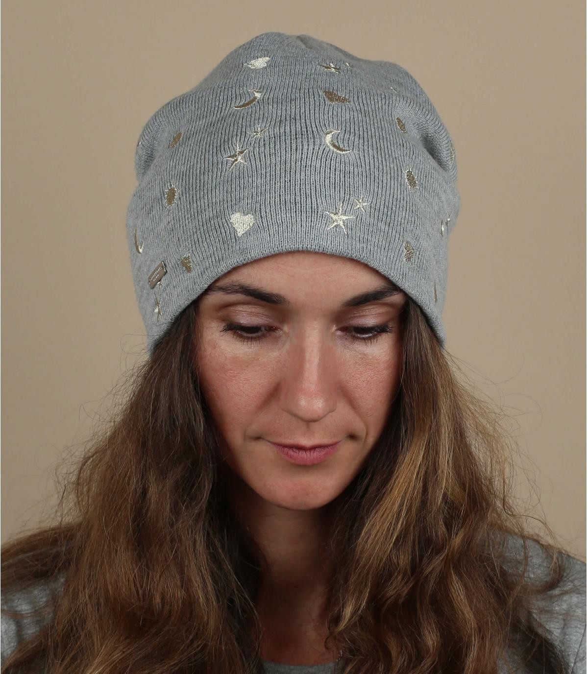 Mütze grau Sternmotiv