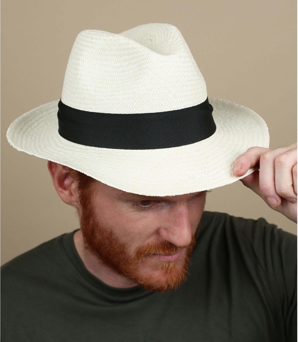 Herren breitkrempig Panama