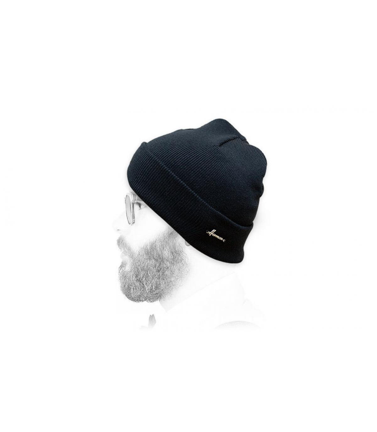Mütze mit Rand marineblau