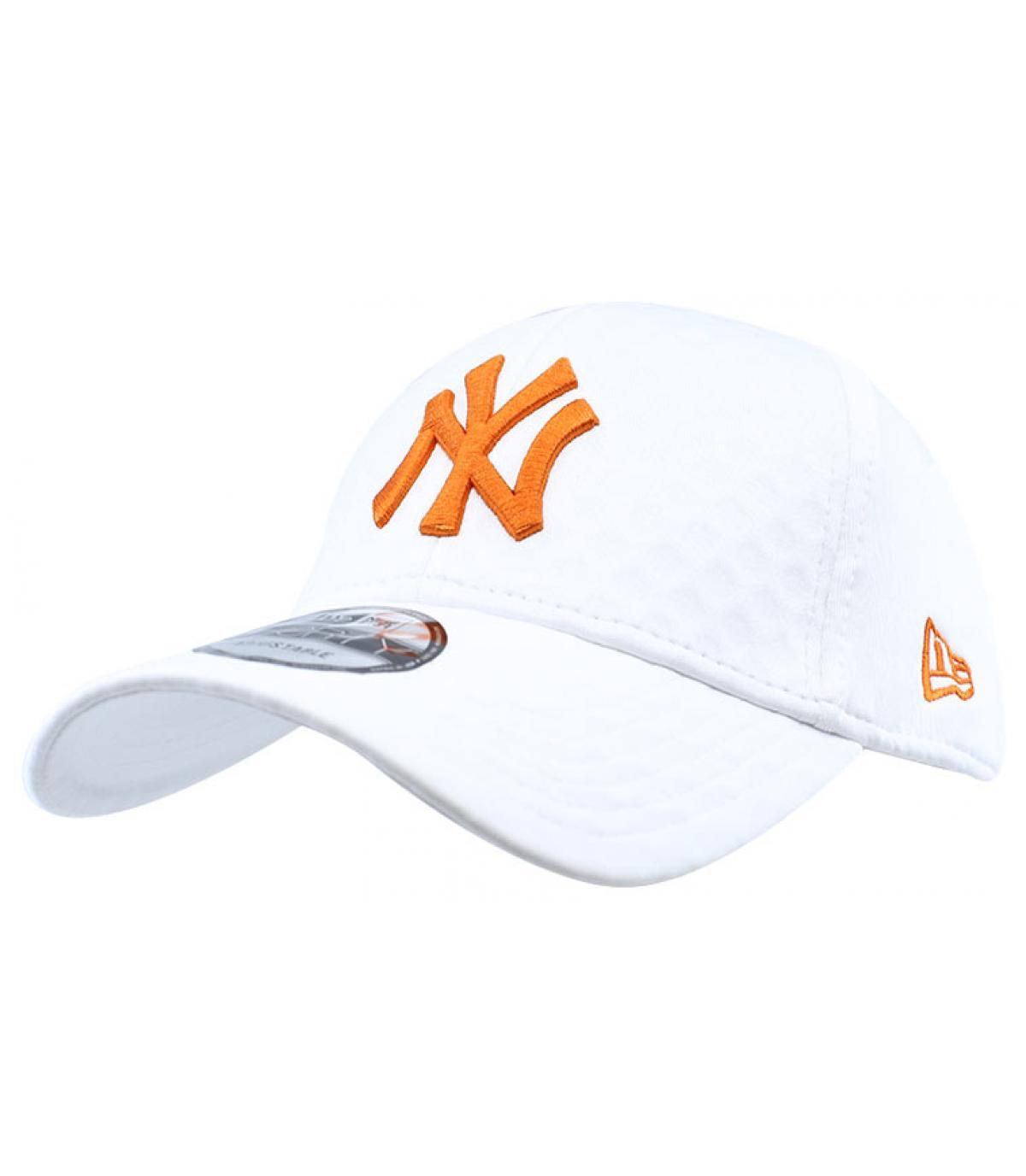 Cap NY weiß orange