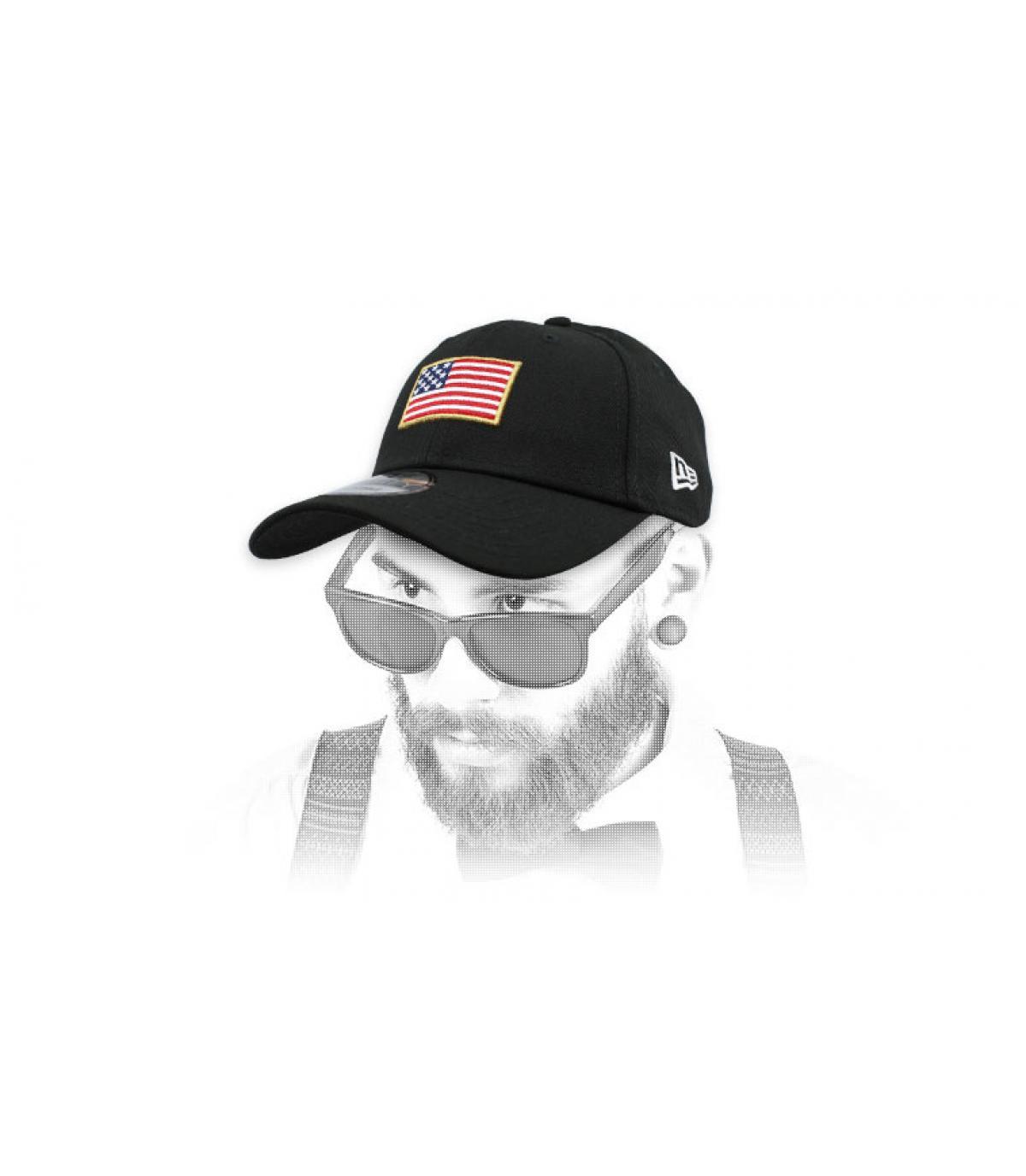 Cap  US Flagge schwarz