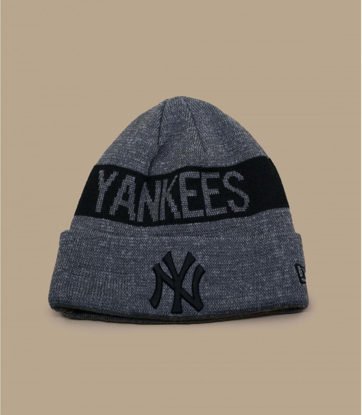 Mütze Rand NY grau schwarz