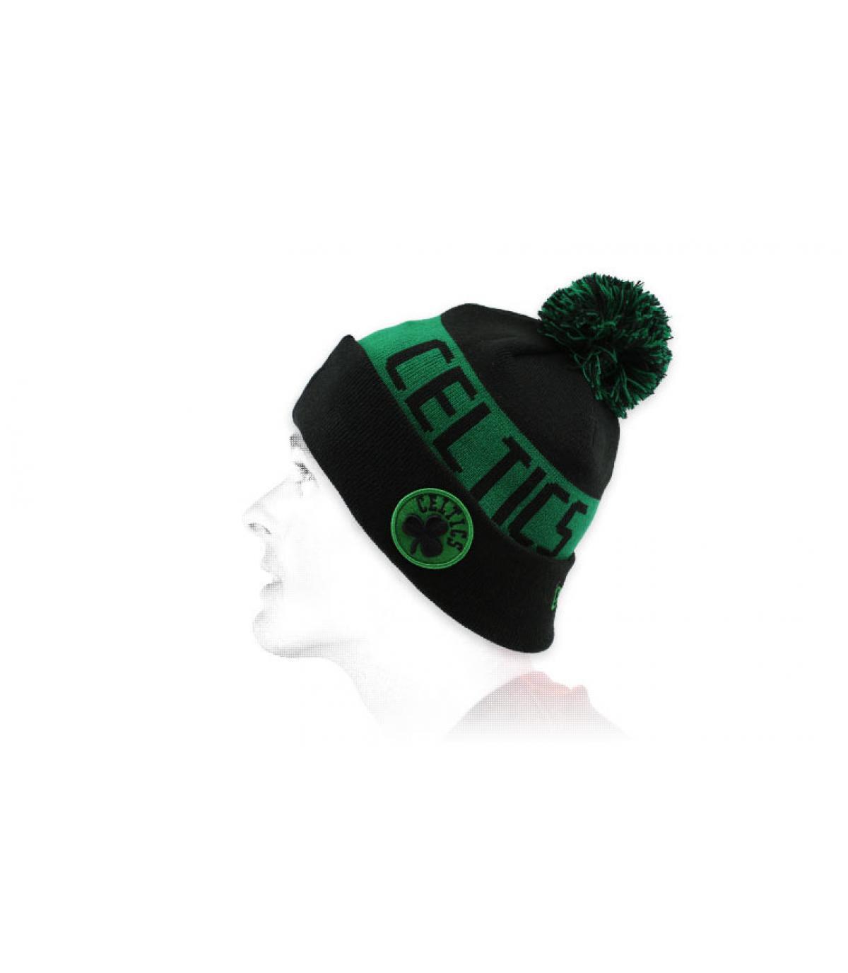 Mütze Rand Celtics schwarz grün