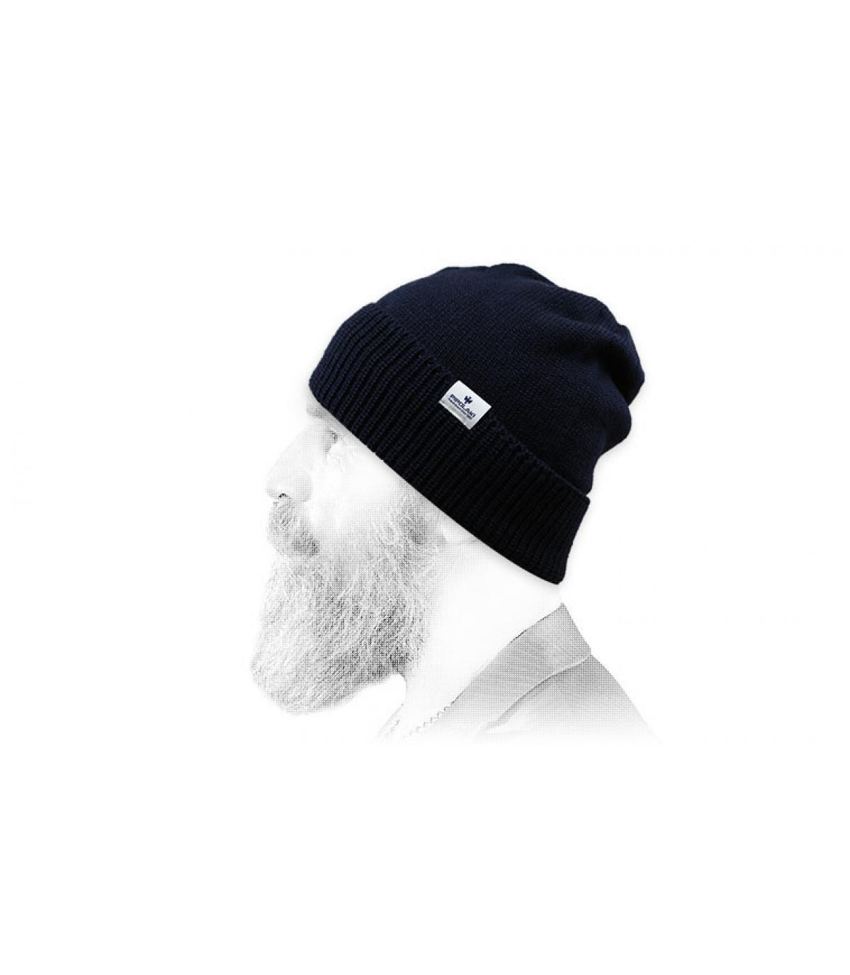 Mütze Rand marineblau