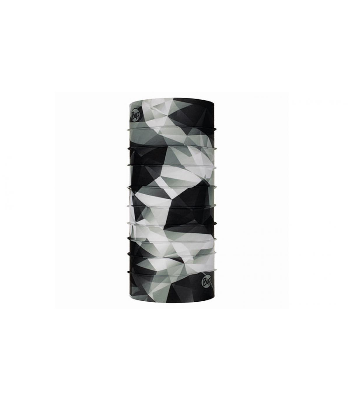 Buff schwarz weiß geometrischer Print