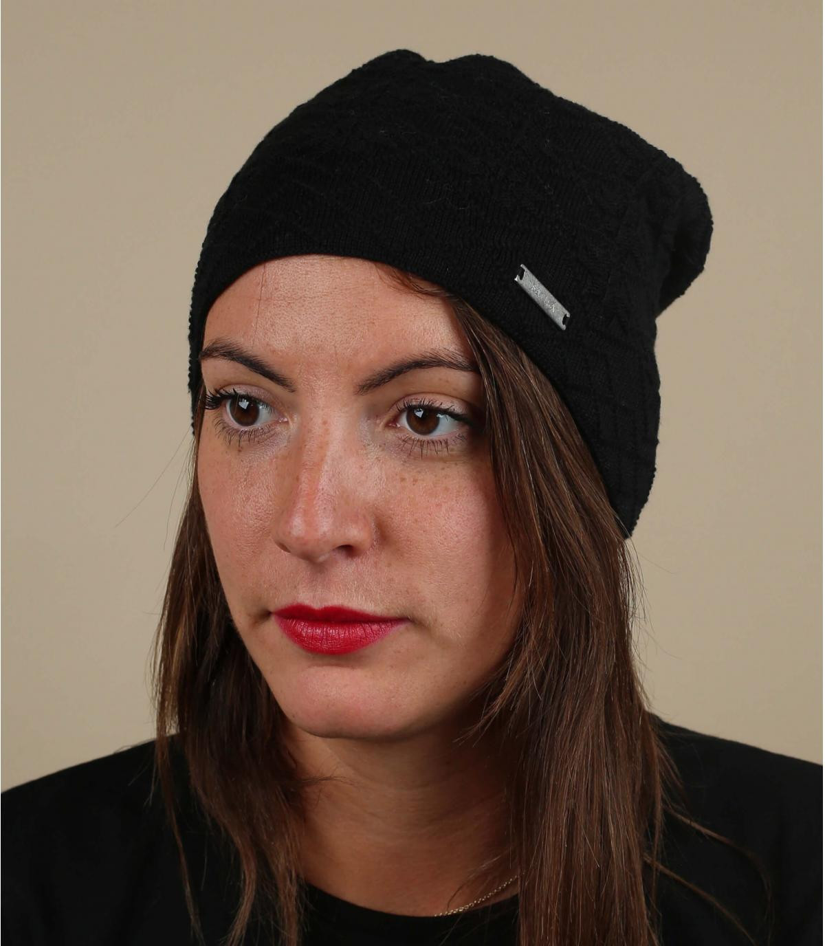 Bio Baumwolle Mütze schwarz