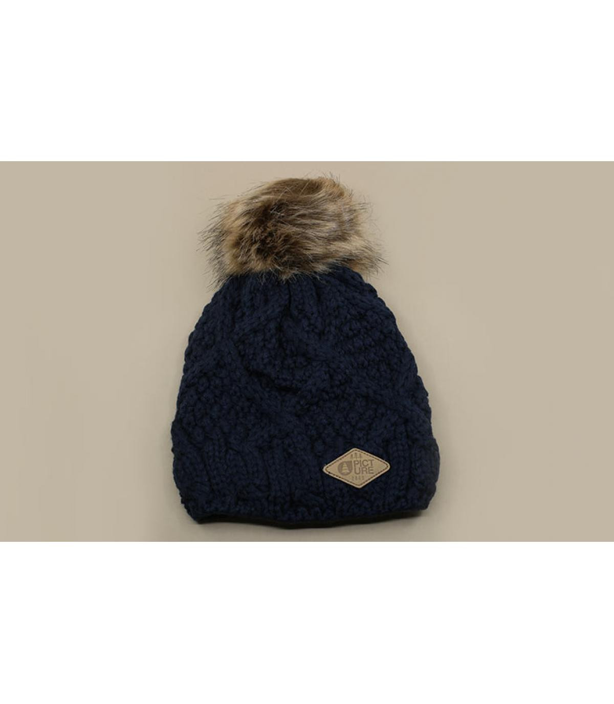 Bommel Mütze blau Picture
