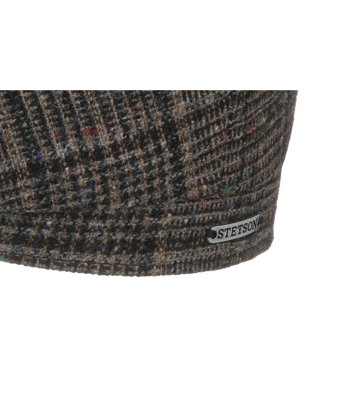 Details Hatteras Wool brown check - Abbildung 3