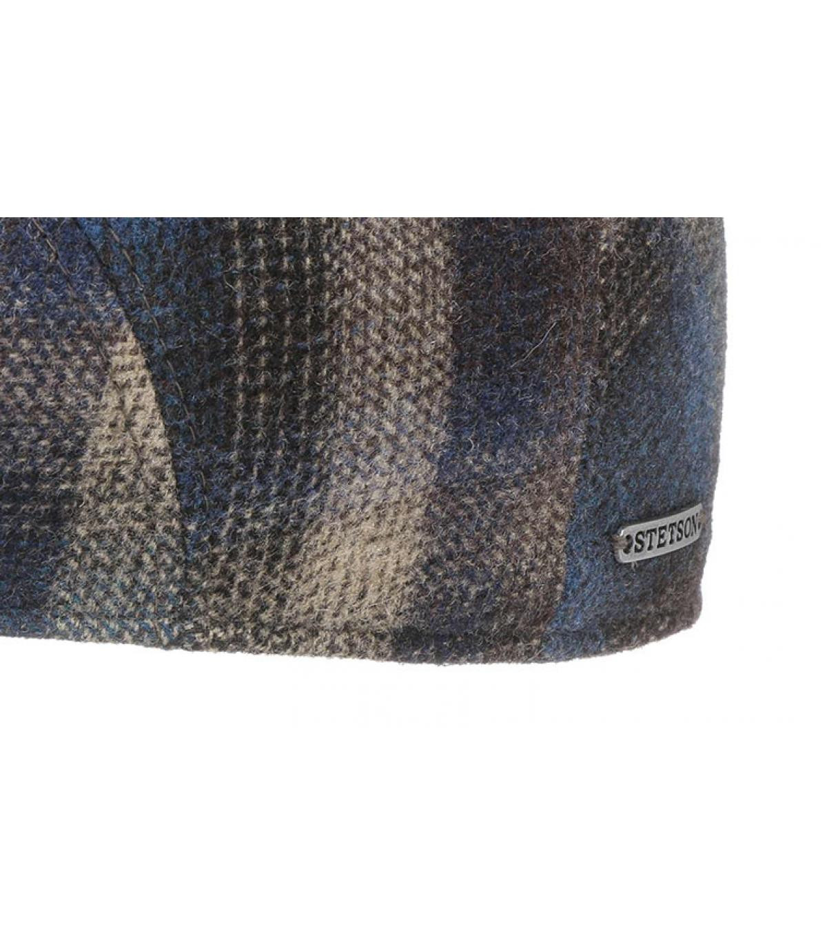 Details Ivy Cap Virgin Wool Check blue beige - Abbildung 3
