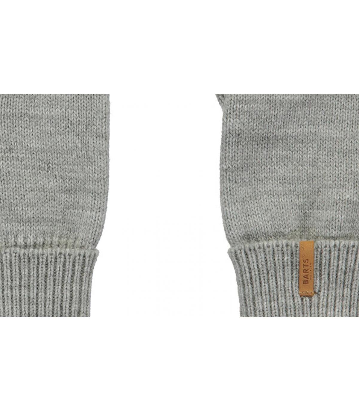 Details Fine Knitted Gloves heather grey - Abbildung 2