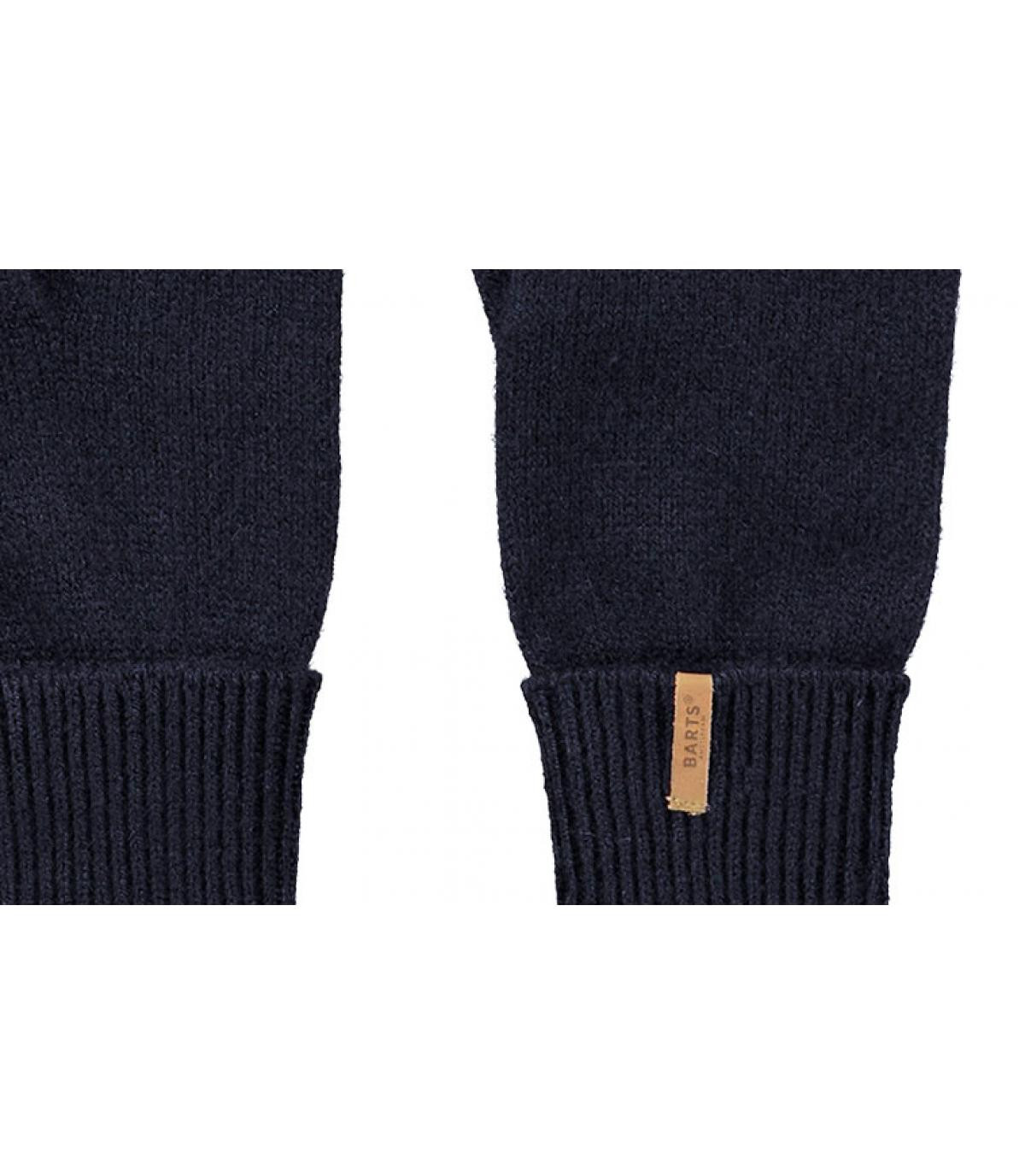 Details Fine Knitted Gloves navy - Abbildung 2