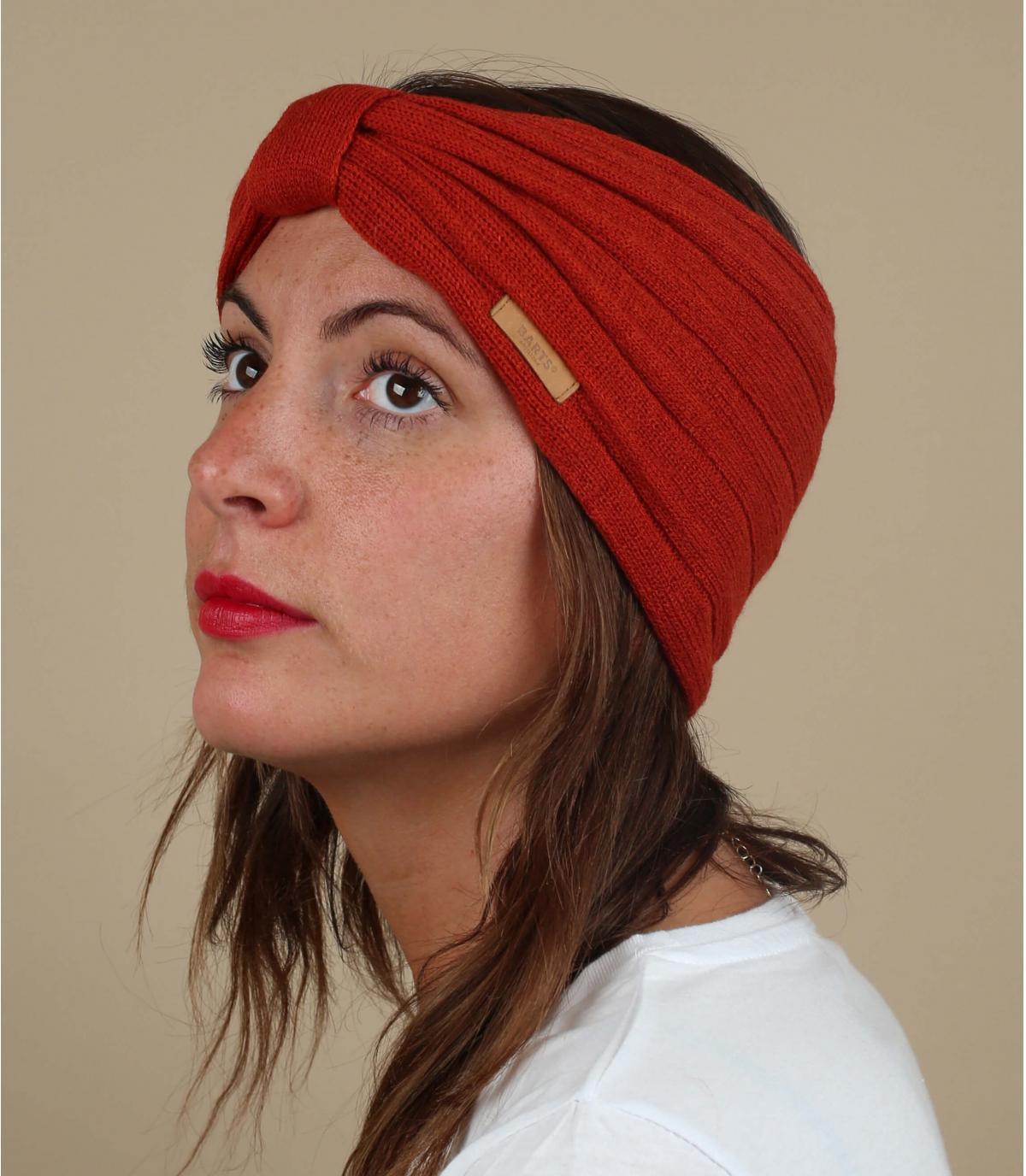 Stirnband rot gebunden