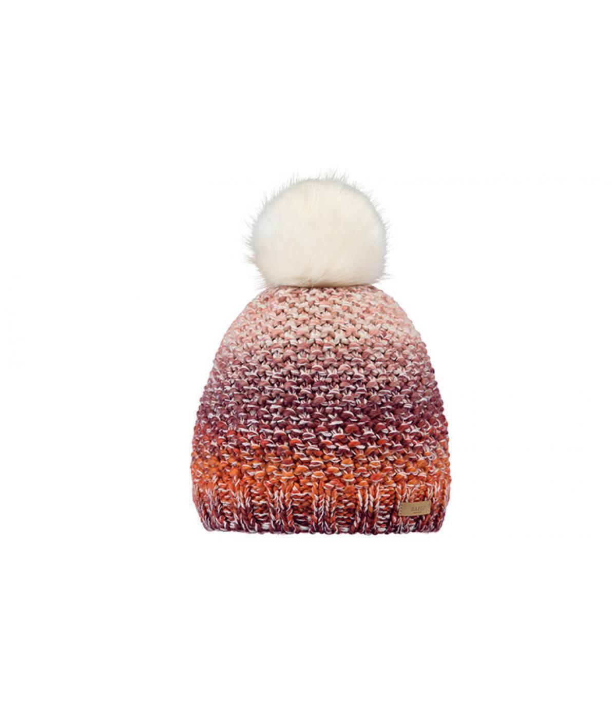 Bommel Mütze rosa abgestuft