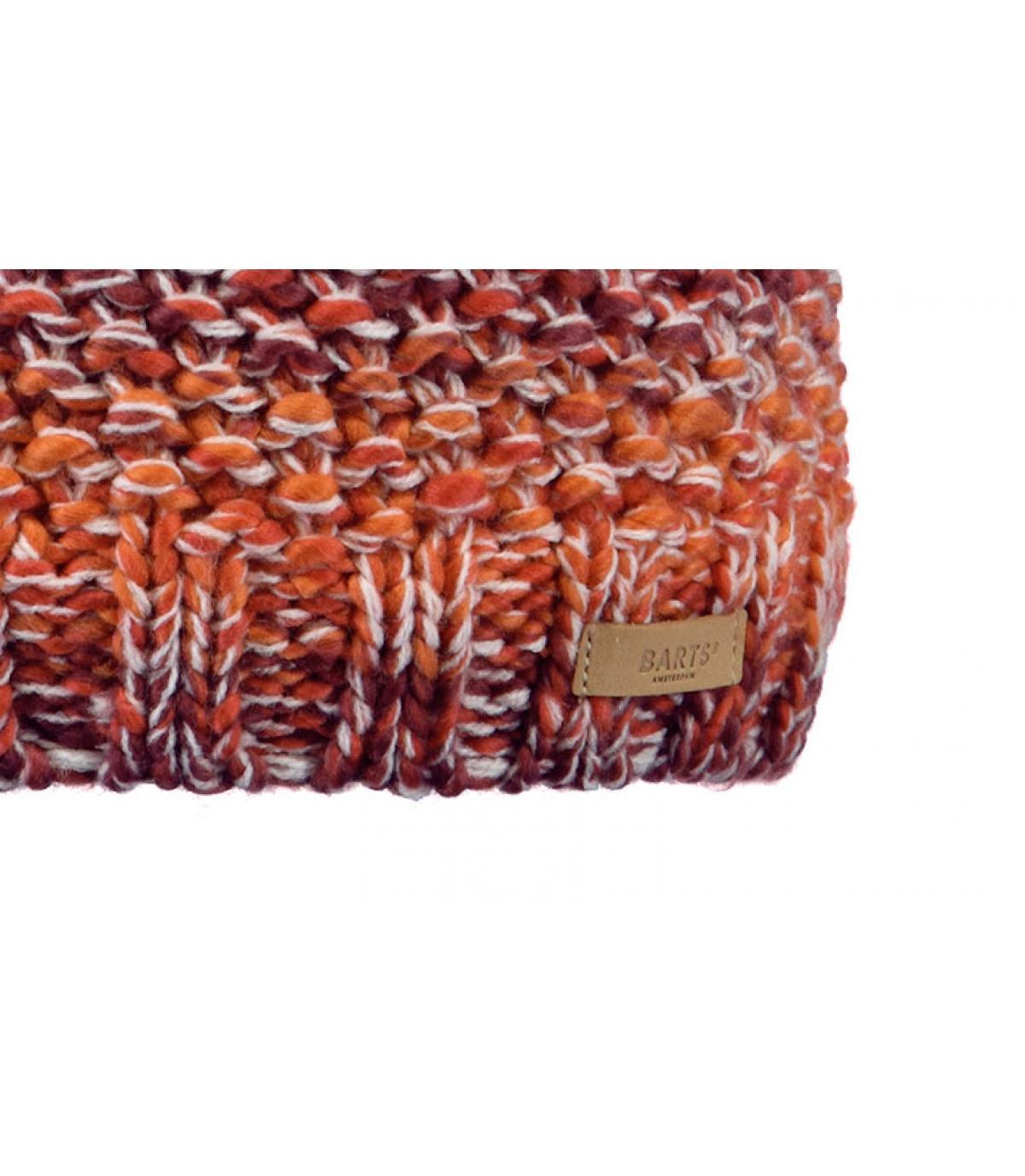 Details Flake Beanie maroon - Abbildung 3