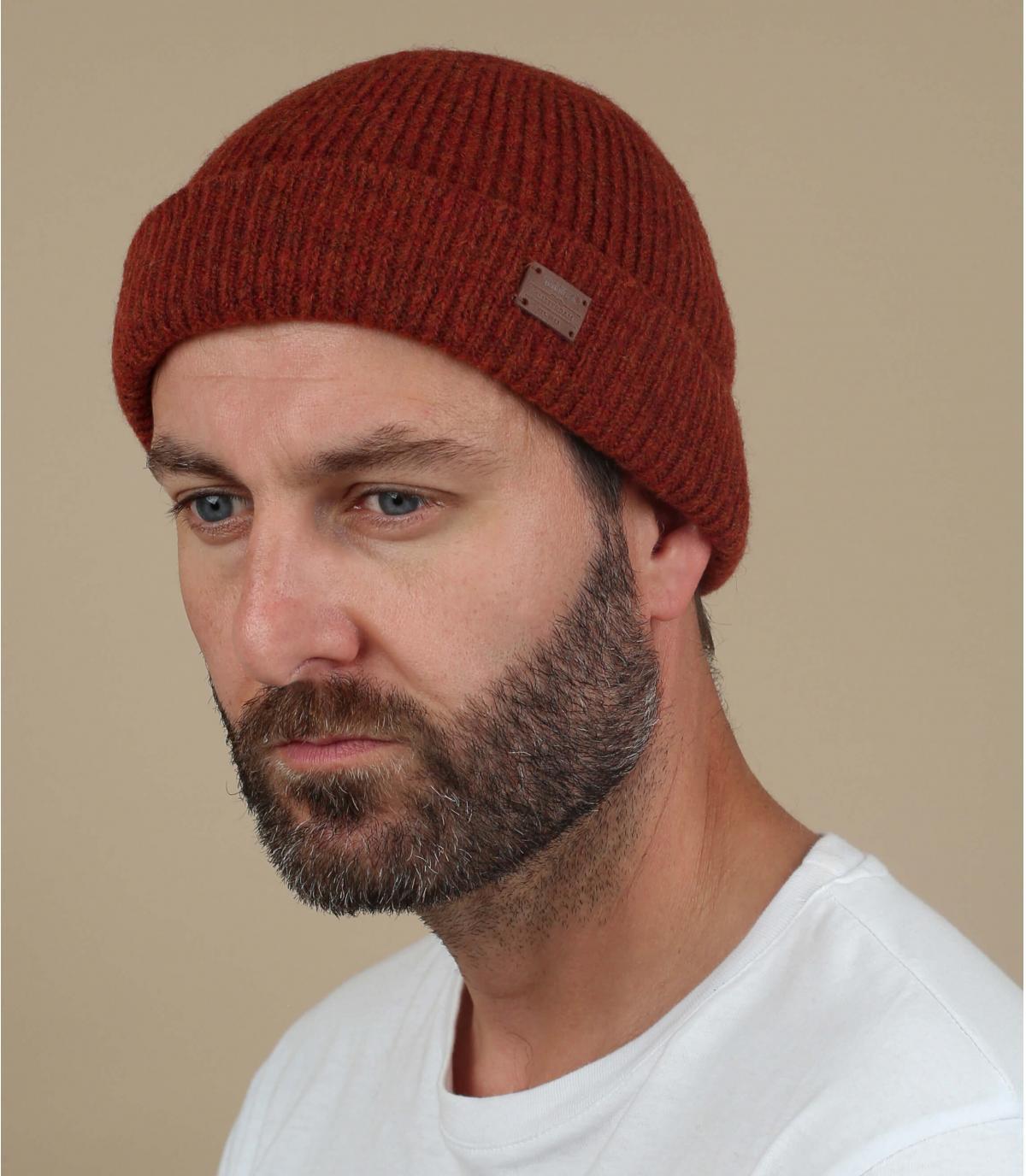 Mütze Yak Wolle rot
