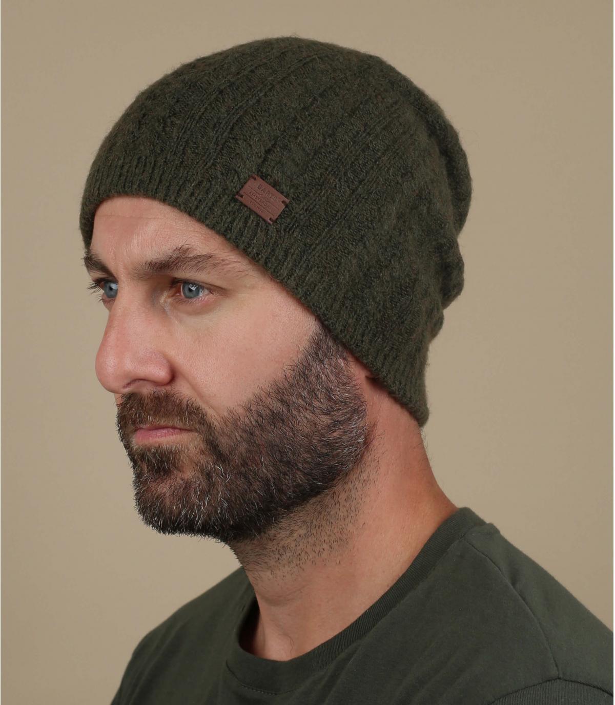 Lange Mütze olivgrün Yak