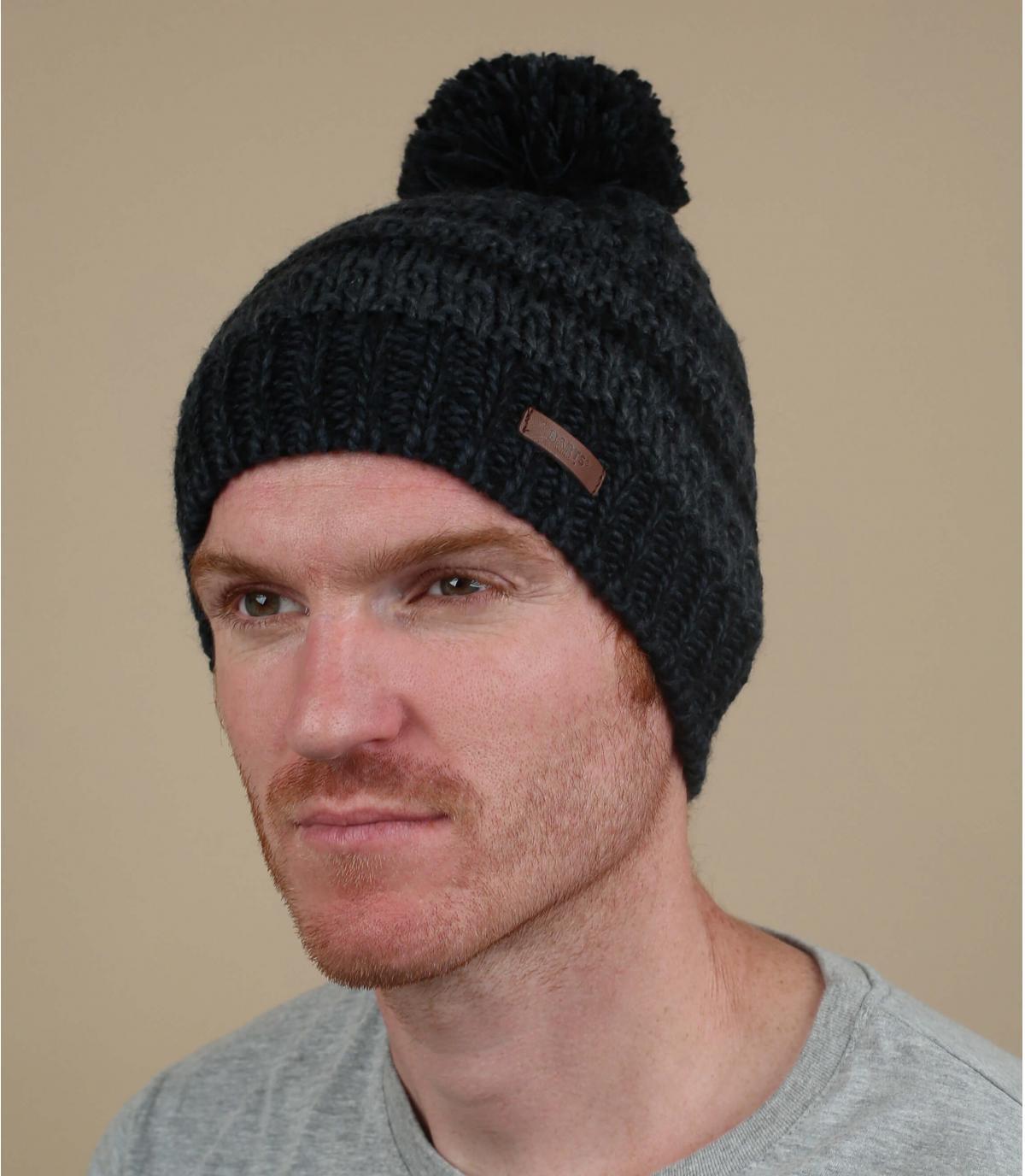 Mütze Streifen blau schwarz