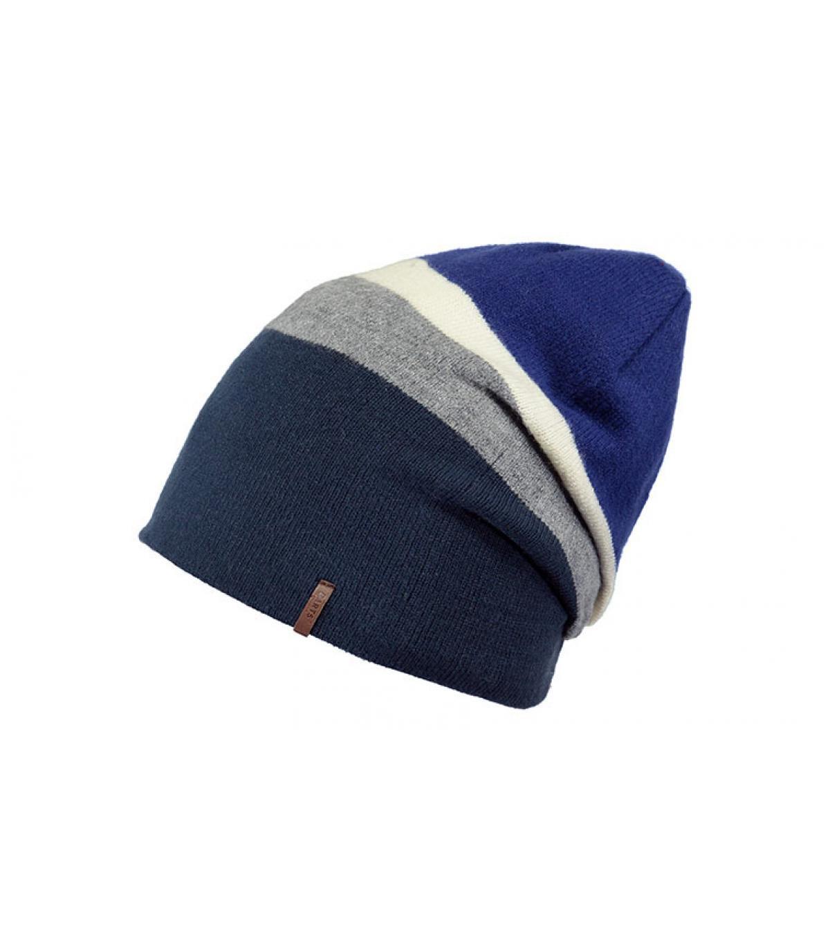 Oversize Mütze blau Streifen