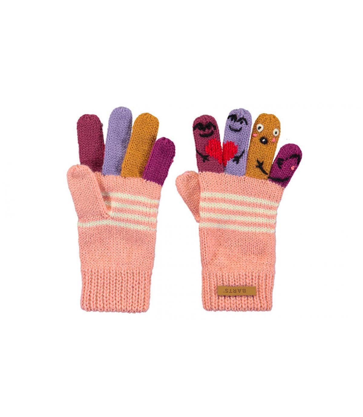Puppen Handschuhe Kinder rosa