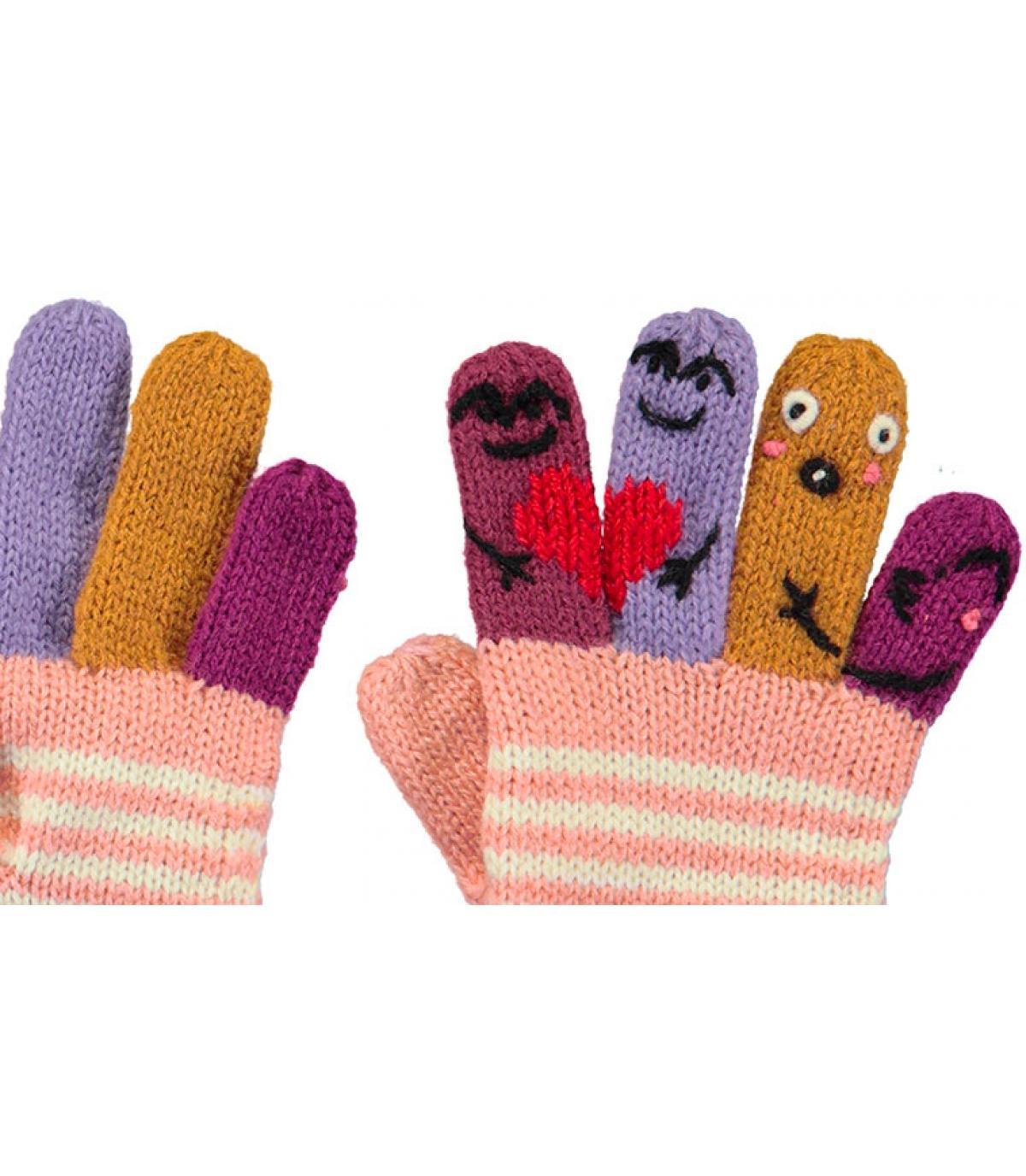 Details Kids Puppet Gloves pink - Abbildung 2