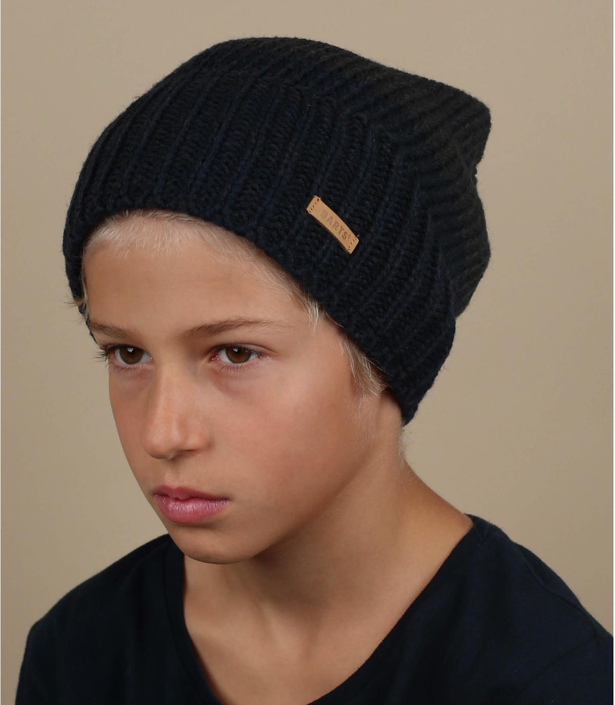 Mütze Jungs blau lang