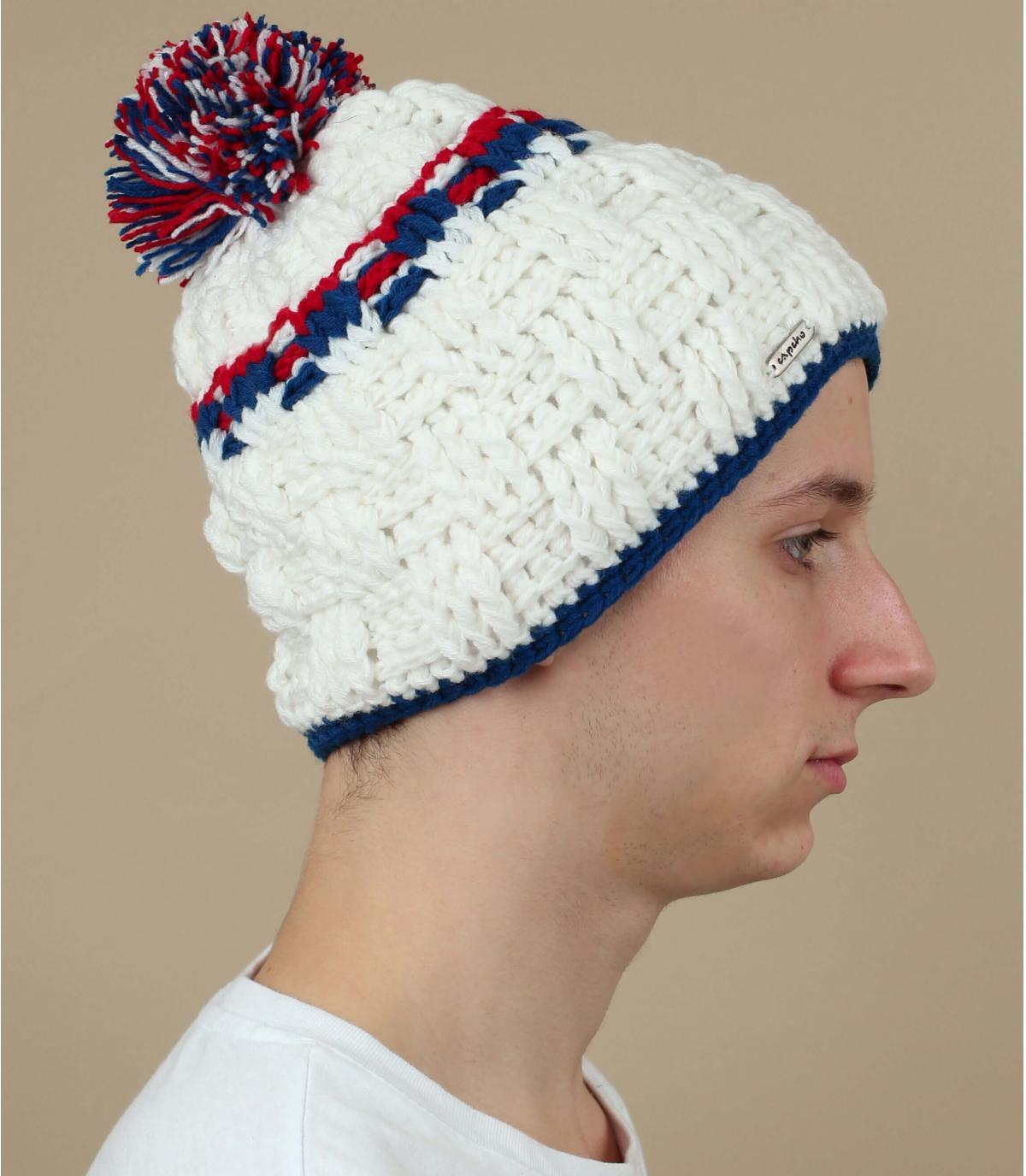 Bommel Mütze weiß Capcho