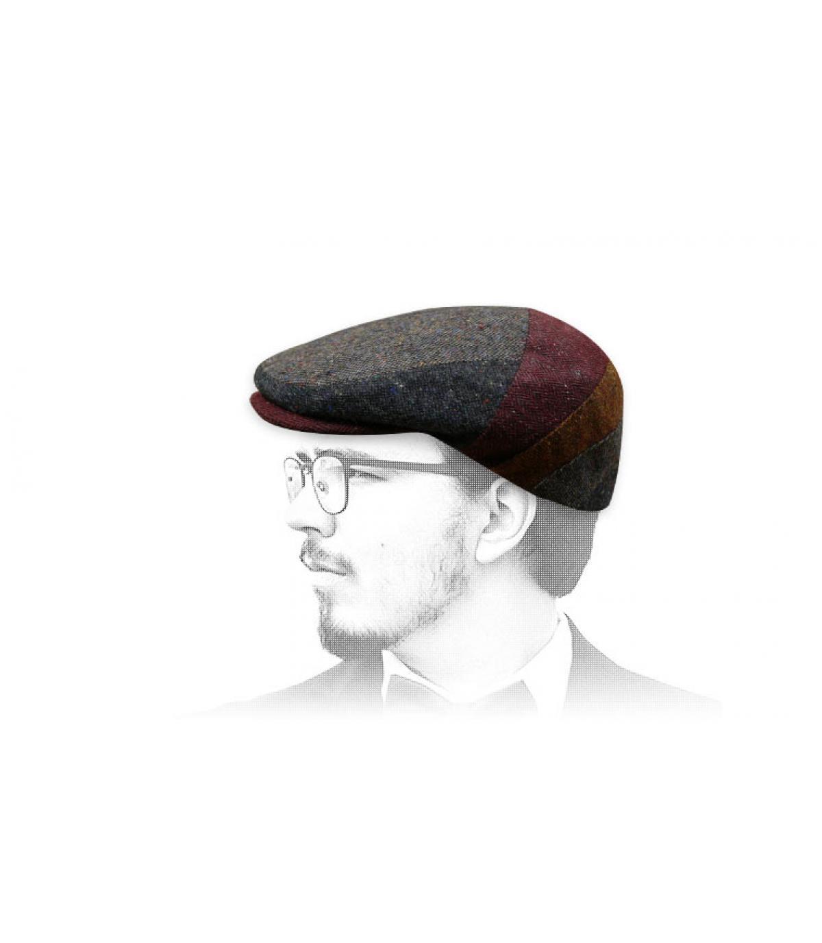 Flatcap Wolle bunt Fléchet
