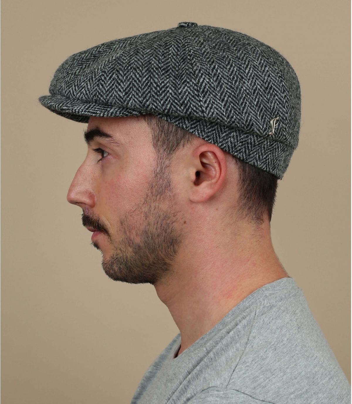 Newsboy Cap Tweed grau