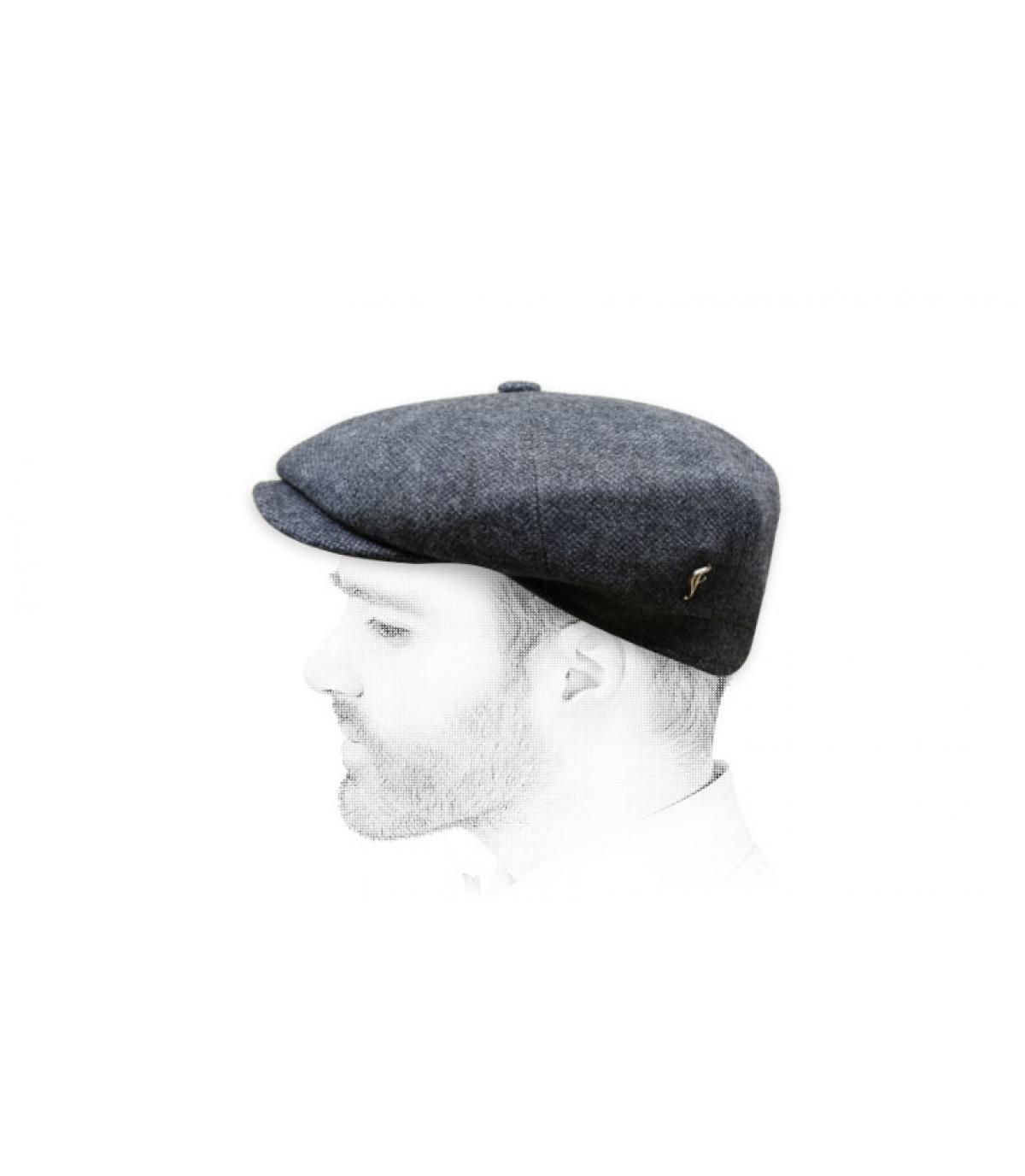 Newsboy Cap grau Wolle