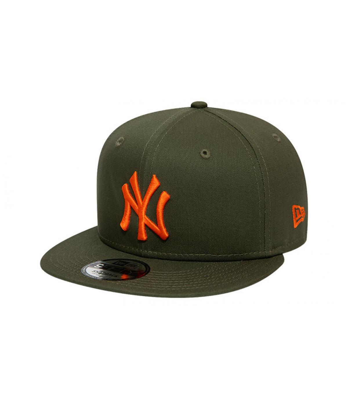 snapback NY khaki orange