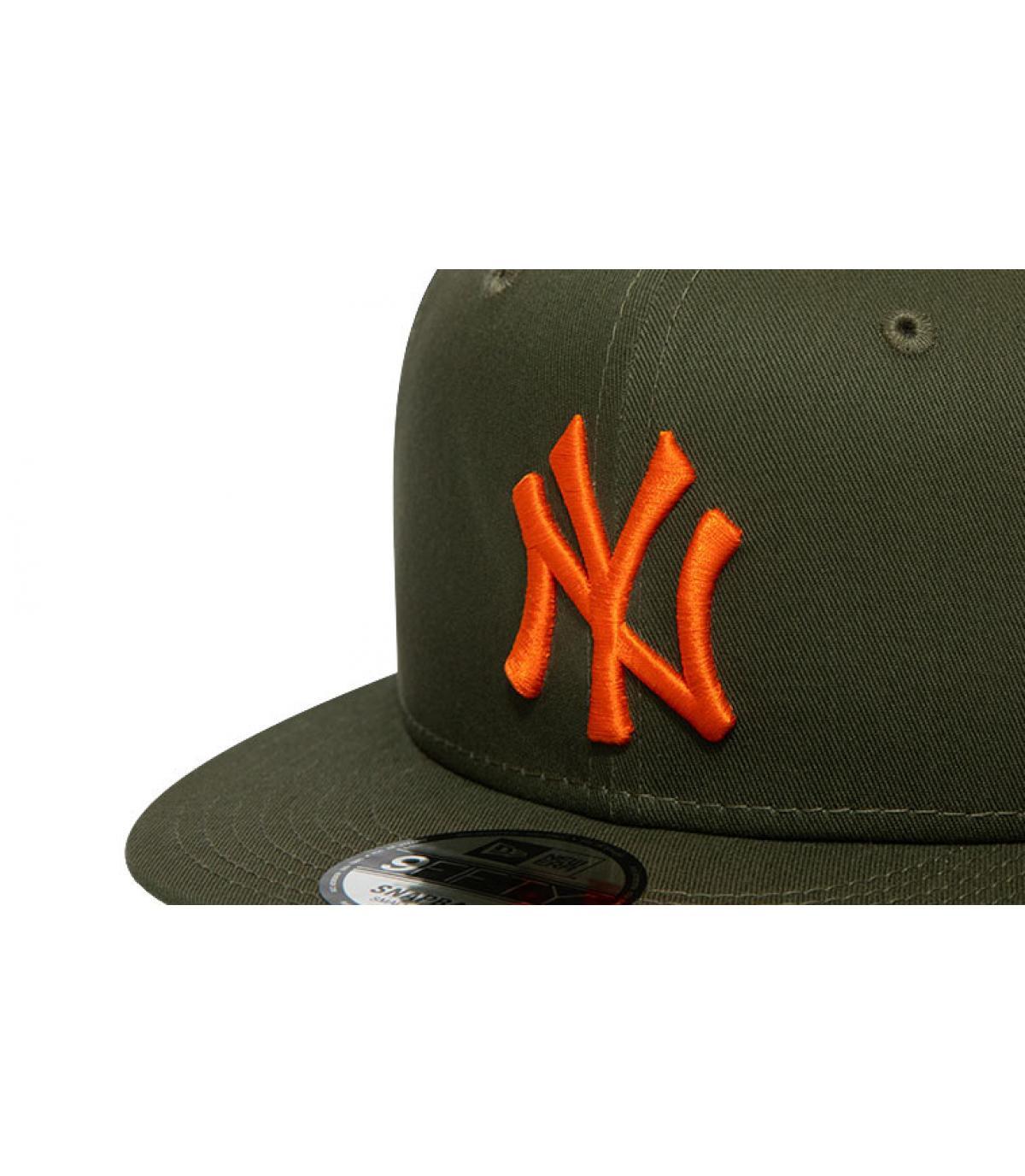 Details Snapback League Ess NY 950 NY olive orange - Abbildung 3