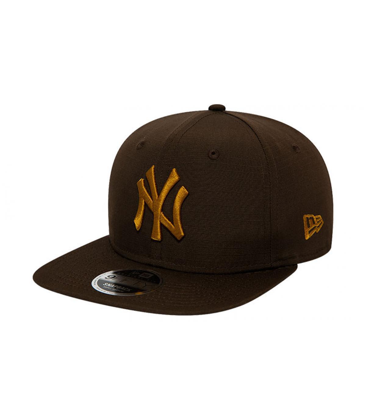 snapback NY schwarz Gold