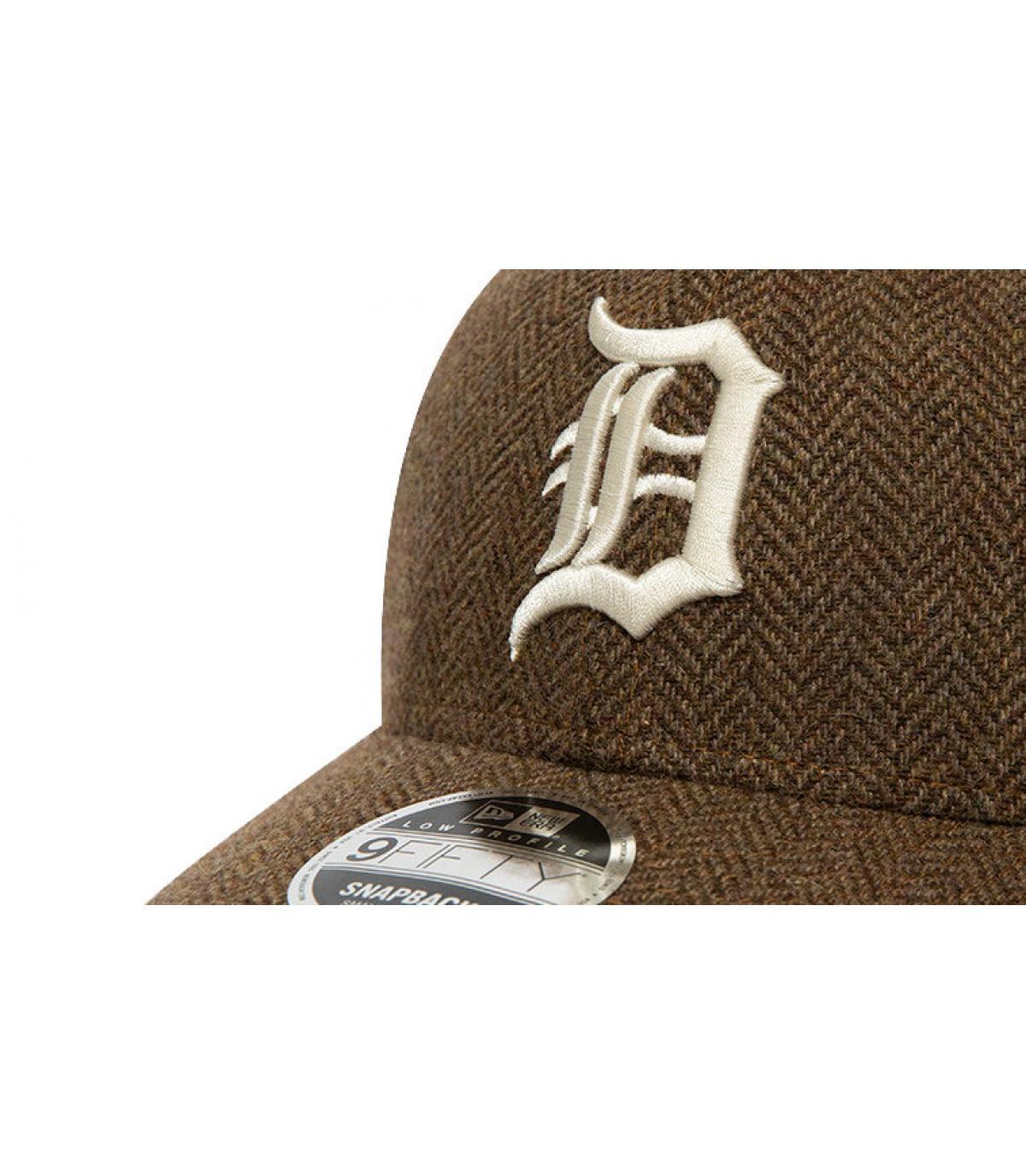 Details Snapback MLB Tweed Detroit 950 old gold - Abbildung 3