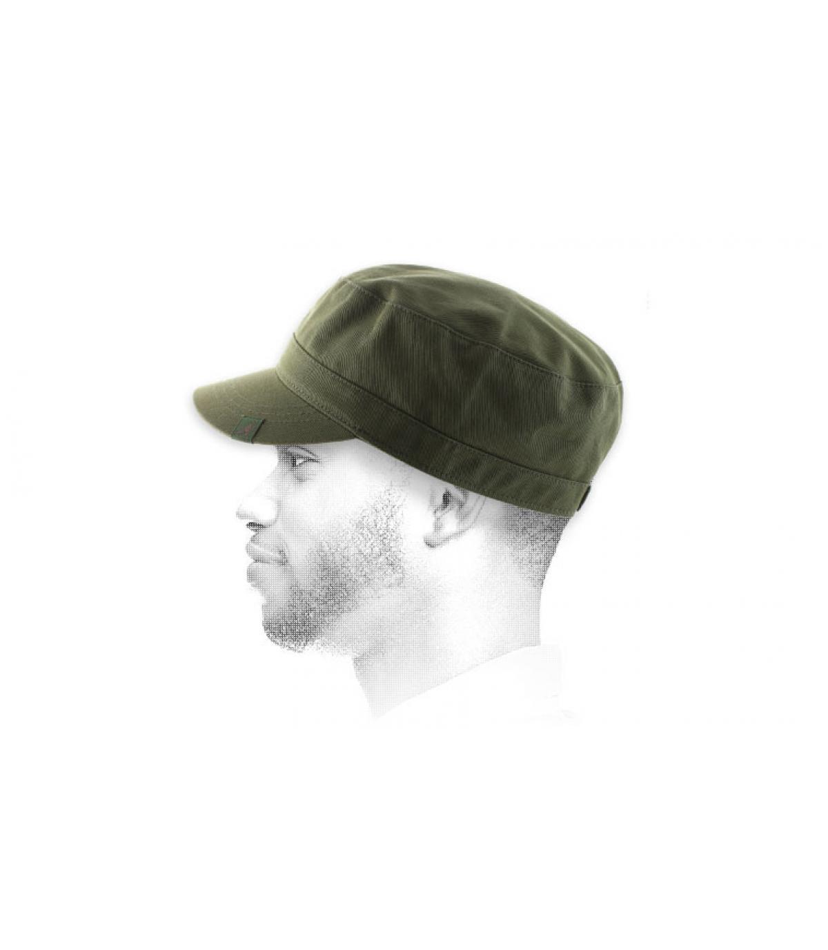 Kangol beigefarbene Army Cap