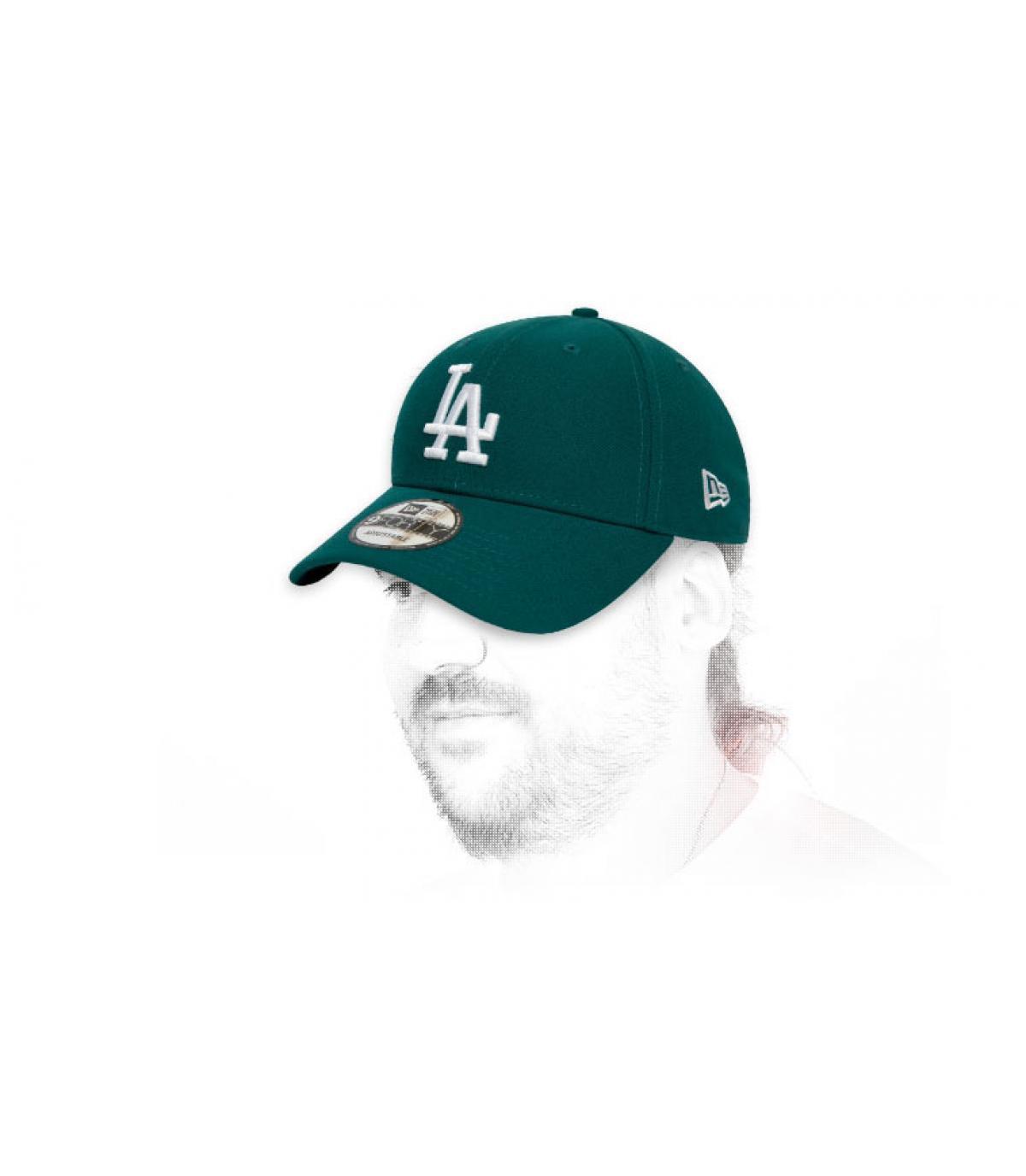 Cap LA grün weiß