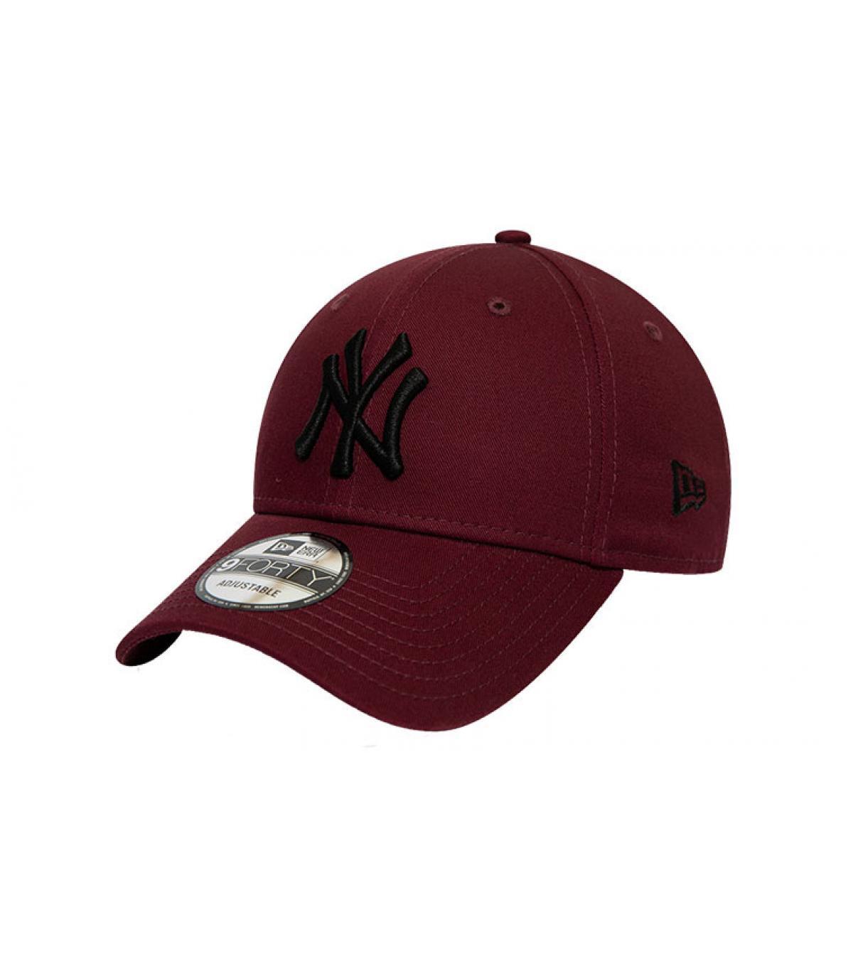 Details Cap League Ess NY 940 maroon black - Abbildung 2