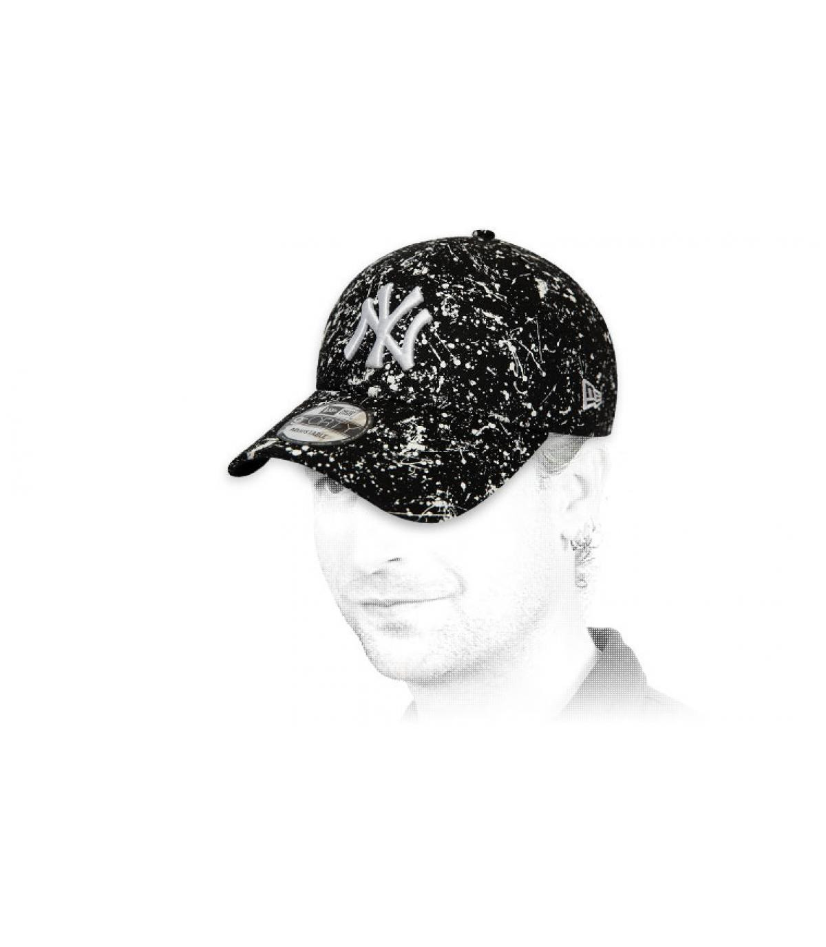 Cap NY Print schwarz