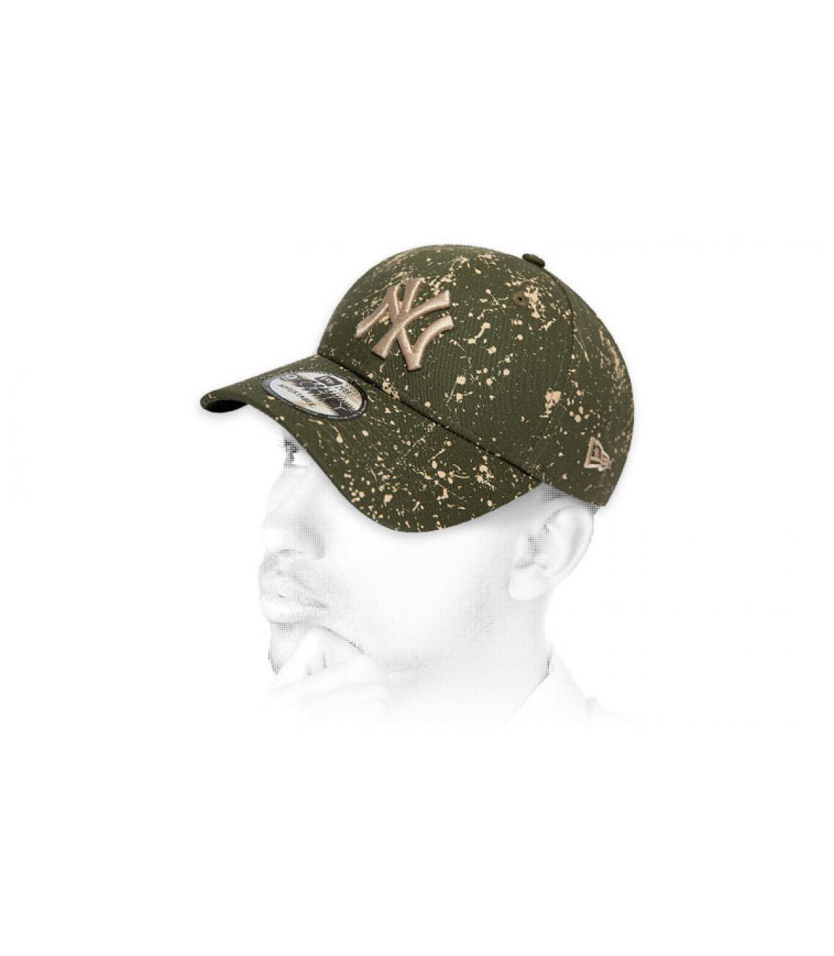 Cap NY bedruckt grün