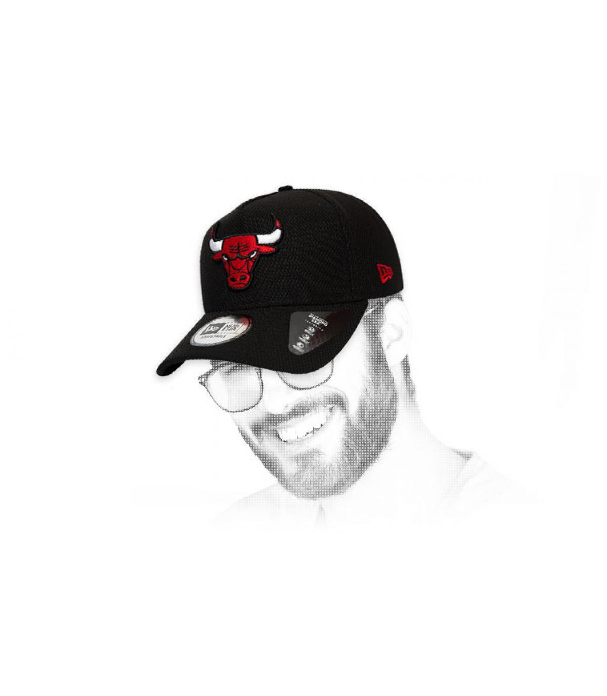 Cap Bulls schwarz Logo