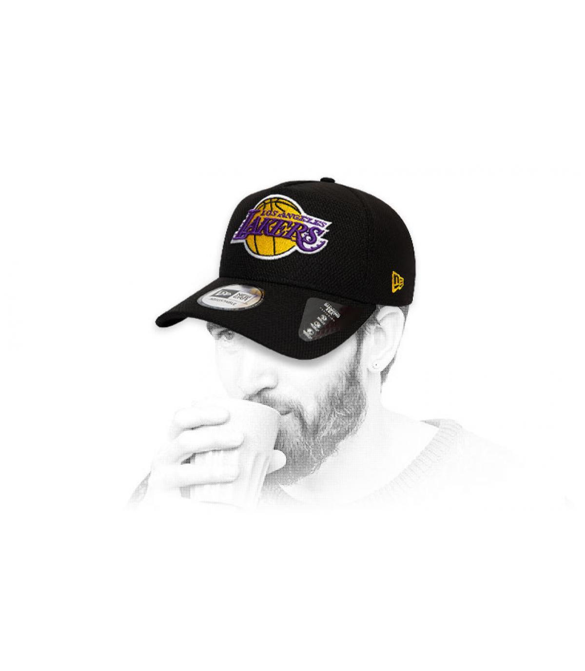 Cap Lakers schwarz Logo